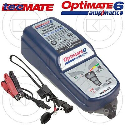 Nuovo Carica Batterie E Mantenitore Tecmate Optimate 6 Ampmatic Tm180