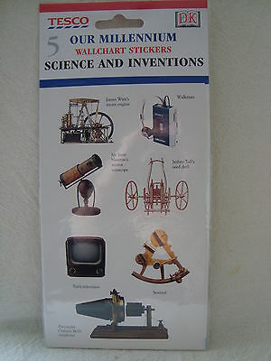 Tesco Our Millennium WallChart Stickers no 5 Science and Inventions