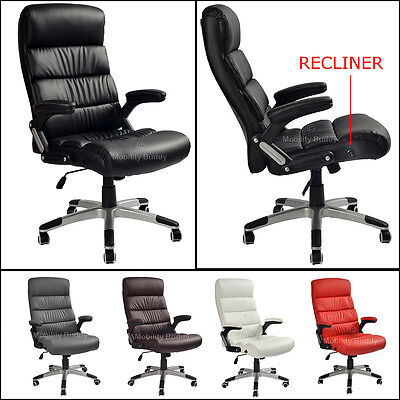 K9 Modern Leather Reclining Office Desk Computer Gaming Chair Swivel High Back