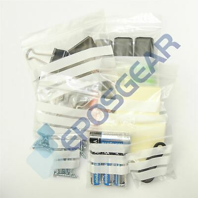 Clear Write-On Panel Grip Self Seal Resealable Polythene Plastic Storage Bags