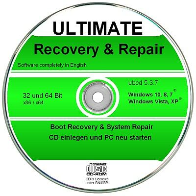 Ultimate Boot & Repair CD   ✔ Windows 10, 8, 7, Vista, XP  (32 & 64Bit)   ✔2018