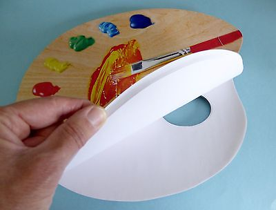 Paper Palette for Mixing Paint 40 disposable tear off sheets 60g/m2, 25cm x 30cm