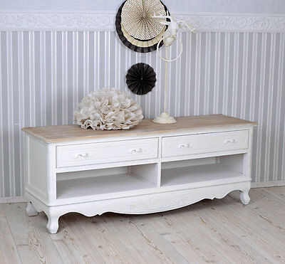 tv lowboard hifi schrank shabby chic fernsehtisch fernsehschrank antik holz eur 249 00. Black Bedroom Furniture Sets. Home Design Ideas