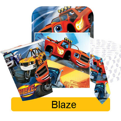 BLAZE & the MONSTER MACHINES Birthday Party Range - Tableware & Decorations