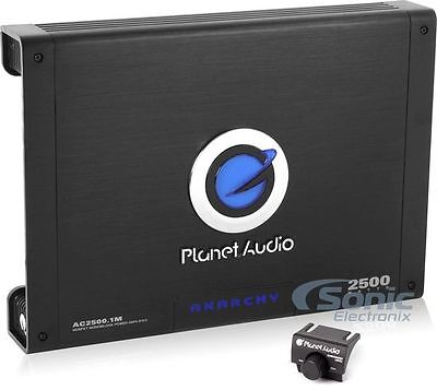 NEW Planet Audio AC2500.1M 2500W Monoblock Car Audio Amplifier Amp + Bass Remote
