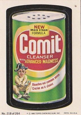 1980 Topps Wacky Packages Puzzle Back Comit Cleanser ##218