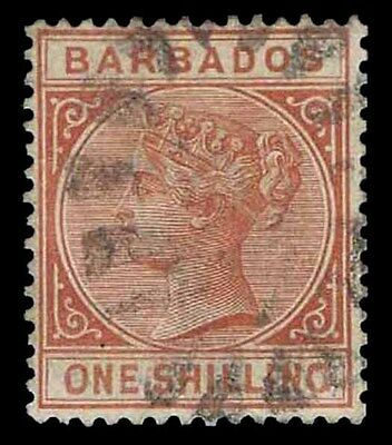 1882-85 Barbados #67 Queen Victoria - Watermk 2  - Used - Vf - Cv$24.00 (E#9987)