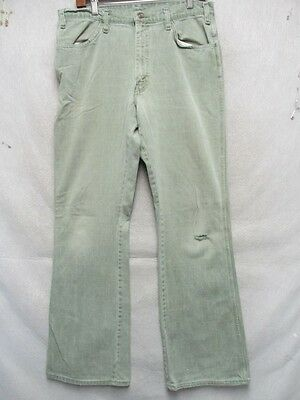 52a07560 D7292 JCPENNEY VINTAGE Green Cool 70's Jeans Men's 33x32 - $24.99 ...