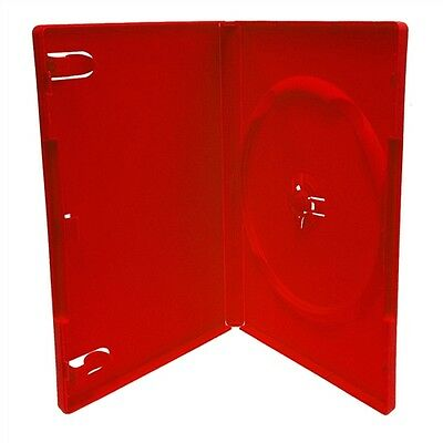 NEW LOT OF 2 RED DVD DISC Replacement Cases STANDARD 14mm CASE  FREE S/H