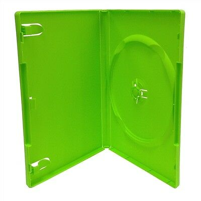 NEW LOT OF 2 GREEN DVD DISC Replacement Cases STANDARD 14mm CASE  FREE S/H
