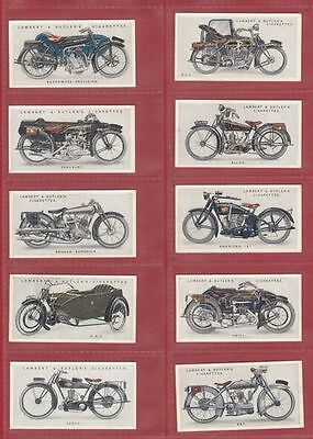Motor Cycles -  Lambert & Butler - Very Rare Set Of 50 Motor Cycles Cards - 1923