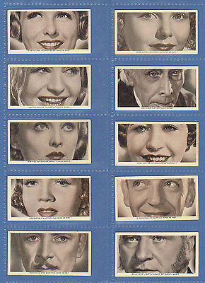 Film  Stars  -  Ardath Tobacco Co. - Set  Of  50  Who  Is  This  ?  Cards - 1936