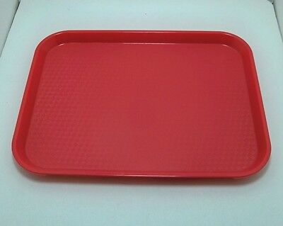 lot of 10  Cambro 10 x 14 in RED cafeteria restaurant serving trays lunch 1014FF