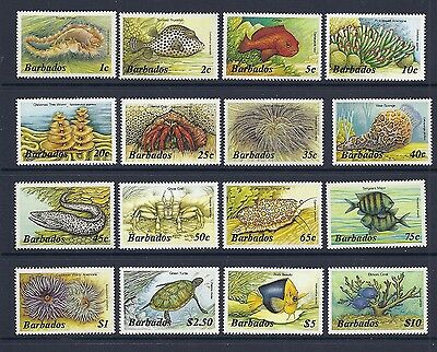 BARBADOS 1985 MARINE LIFE definitives complete VF MLH