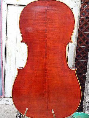 NEW Cello 4/4 Size full Hand made instrument deep flamed maple back 0607