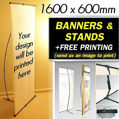 EXHIBITION STAND PULL UP BANNER CUSTOM PRINTING Display PERSONALISED Shop Sign