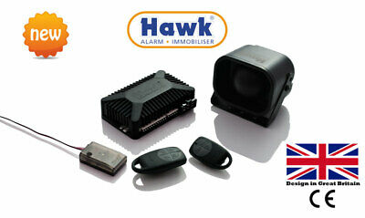 HAWK CAR ALARMS REMOTE START CENTRAL LOCK + IMMOBILISER+ 2 Zone PROXIMITY SENSOR
