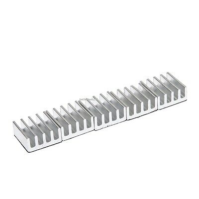 High Quality 5pcs 11x11x5mm Aluminum Heat Sink For Memory Chip IC B20E