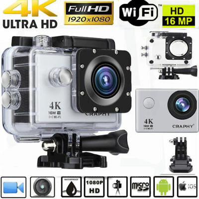 12MP WIFI 1080P HD Sports DV Action Camera Waterproof Video Camcorder For GoPro