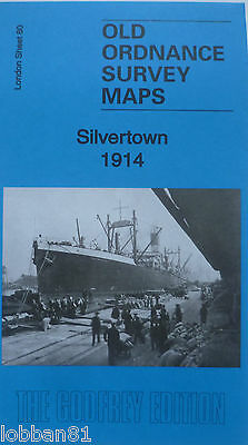 Old Ordnance Survey Map Silvertown near Canning Town London 1914 Godfrey Edition