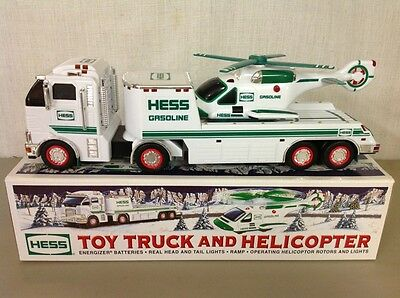 New In Box- Hess Gasoline Advertising Toy Truck And Helicopter