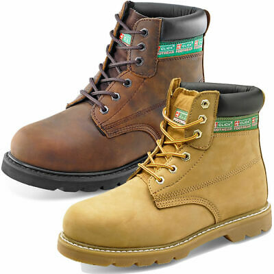 CLICK GOODYEAR WELTED 6 INCH BOOT Leather Safety Work Protected Toecap Midsole