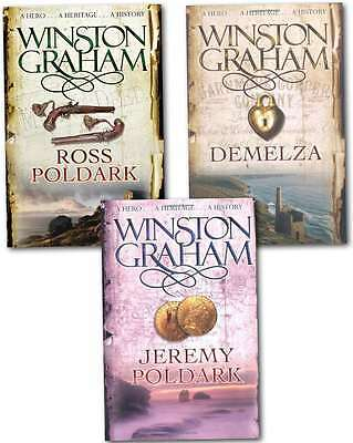 Winston Graham Polddark Collection 3 Books Set Ross Poldark, Demelza, Jeremy Pol