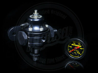 K-Tuned K-Series Adjustable Fuel Pressure Regulator W/ Gauge Honda Acura K20 K24
