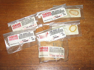 Yamaha Riva 200 125 Front Fork Parts Collar Bushings Dust Seals Set New Oem