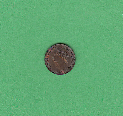 1878 Great Britain - Farthing - Victoria - Uncirculated