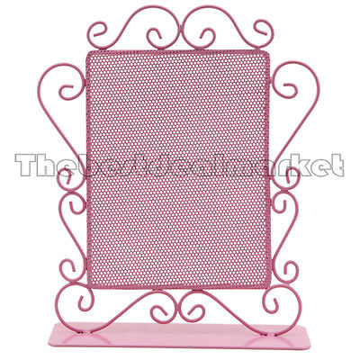 New Multi-Purpose Earring Jewelry Display Stand Holder Metal Pink 0874 Free Ship