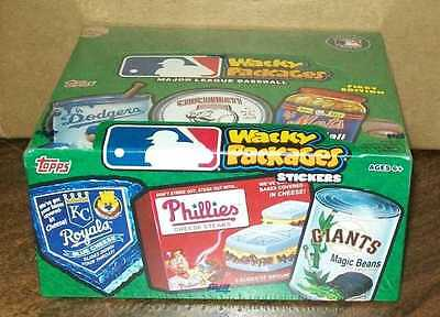 TOPPS 2016 MLB WACKY PACKAGES TRADING CARDS FACTORY SEALED BOX  #smay16-54