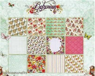 Dovecraft Bohemian Papers 6 X 6 Sample Pack - 12 Sheets