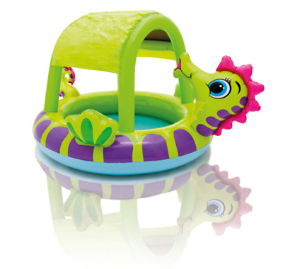 Intex Seahorse Baby Pool Inflatable Kids Swimming Wading with Sunshade