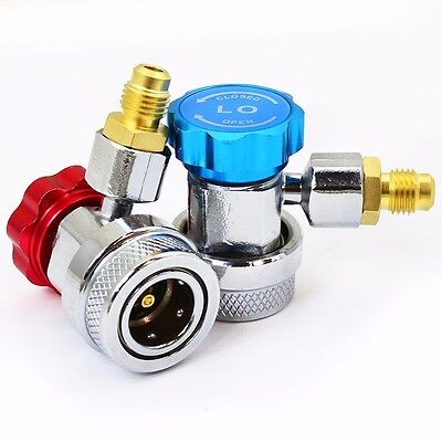 A/C Air Condition QUICK COUPLER Adapter High Low Manifold Gas Connector R134A