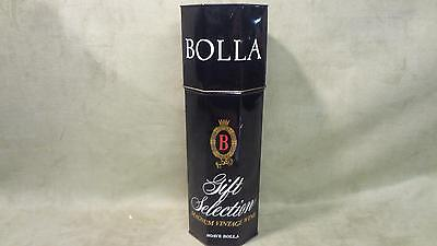 Vintage antique retro BOLLA Wine Bottle Caddy Tin gift selection magnum