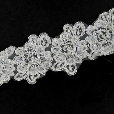 Lace Trim Rose Applique Motif with Beading Style 2019 (Price per 5 Flowers) - Of