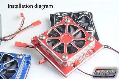 1/5 Traxxas X-Maxx Cooling Fan High Output Alloy RED by Area RC