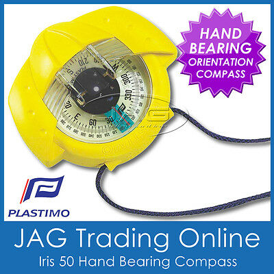 YELLOW PLASTIMO IRIS 50 BEARING COMPASS -Marine/Hiking/Scout/Bush/Orienteering