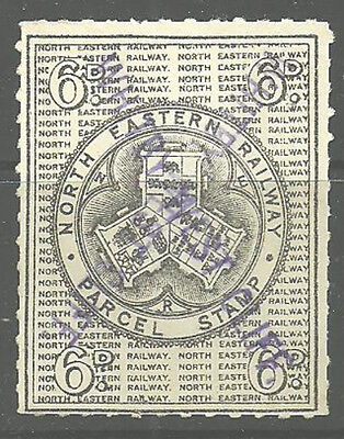 6D North Eastern Railway Parcel Stamp Whitby West Cliff Handstamps In Violet