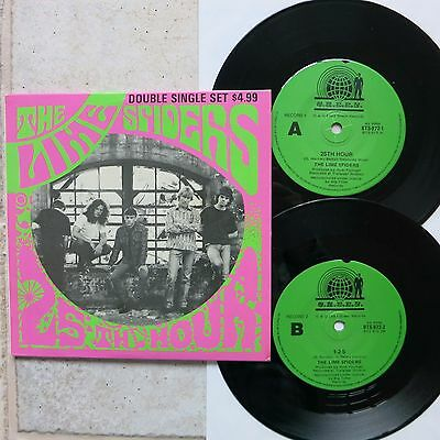"""LIME SPIDERS - 25th HOUR + 3    2 x 7"""" Single Set  Green BTS 972"""