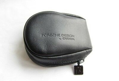 NEW VINTAGE 80s LEATHER PORSCHE DESIGN CARRERA FOLDING SUNGLASSES CASE 5622 5629
