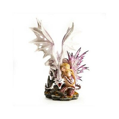 White Dragon with Fantastic Fairy Ornament Mystical Statue Figurines Large