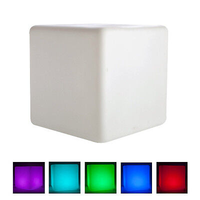 Strobe Light Night Fade Smooth Neon Colour Changing LED Cube with RC Remote