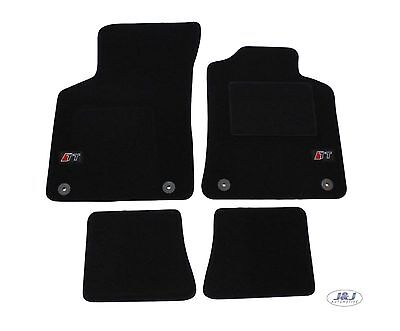 LUKAU010 TAILORED Black floor Car Mats with logo  Audi TT mk1 1999-2006  4pcs