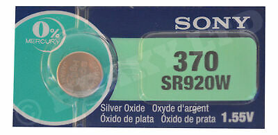 Genuine SONY 370 SR920W Silver Oxide Watch Battery 1.55v [1-Pack]