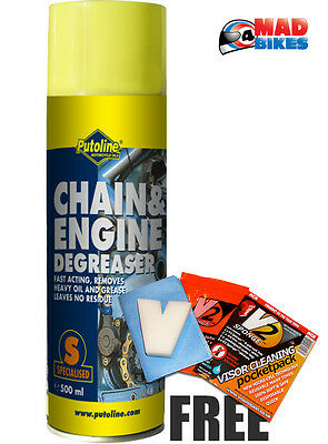 Putoline Motorcycle Motorbike MX Chain Cleaner & Engine Degreaser 500ml Aerosol