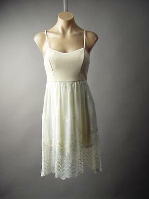 Romantic Victorian Embroidered Lace Empire Waist Tea Slip 188 mv Dress S M L