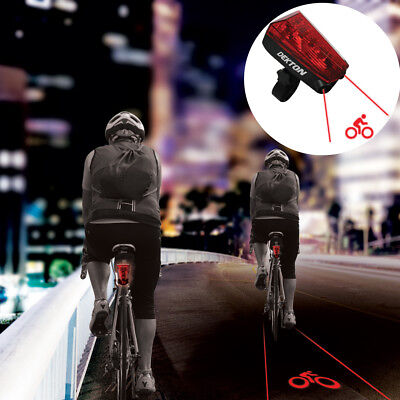 Laser Lane Bike Light Bicycle Safety Night High Visibility Cycle Projection NEW