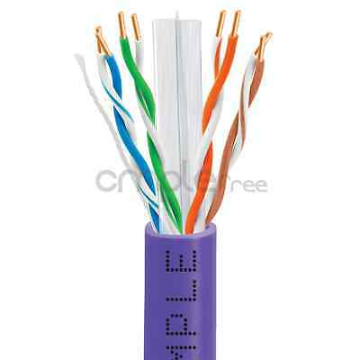 CAT6 CABLE 1000FT UTP SOLID NETWORK ETHERNET BULK WIRE 550MHz RJ45 LAN NEW